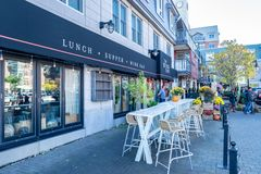 The Bicycle Thief Restaurant in Halifax, Nova Scotia royalty free stock image