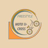Bicycle thin line design logo template. Royalty Free Stock Photography