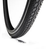 Bicycle tire. On white background Stock Image