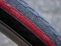Bicycle tire. Used bicycle tire-detail Stock Photo