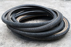 Bicycle tire. Closed up of mountain bike  tires Royalty Free Stock Photos