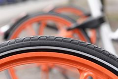 Bicycle tire Royalty Free Stock Photo