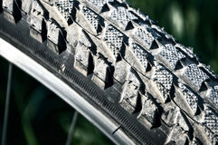 Bicycle tire. Stock Photo