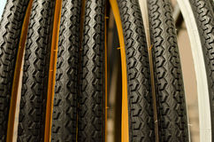 bike tire footprint closeup Stock Images
