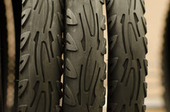 Bike tire footprint closeup Stock Photos