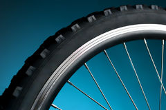 Bicycle tire and spoke wheel. Sport bicycle tire and spoke wheel stock photography