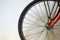 Bicycle tire and spoke wheel Royalty Free Stock Image