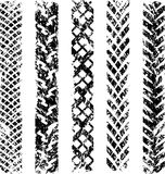 Bicycle tire track Stock Image