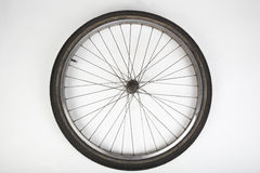 Bicycle  tire on white Royalty Free Stock Images