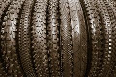 Bicycle tires Stock Photo