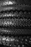 Bicycle tires background Royalty Free Stock Photos
