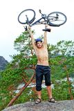 Bicycle on top Royalty Free Stock Photos