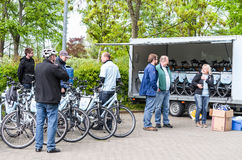 Bicycle tour with artificial heart patients of Elisabeth-Kranken Royalty Free Stock Photos