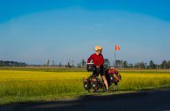 Bicycle Touring Adventurer Stock Photography