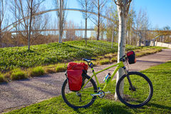 Bicycle touring bike in Valencia Cabecera park royalty free stock image