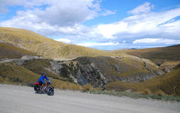 Bicycle Touring in New Zealand Royalty Free Stock Photo