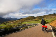 Bicycle Touring In Spain Stock Photo