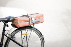 Bicycle tourism in retro style Stock Photos
