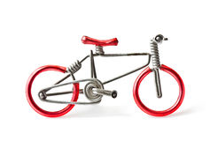 Bicycle toy. On white background Stock Images