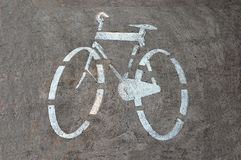 Bicycle track sign Stock Photo
