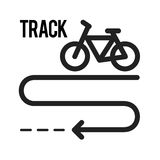 Bicycle Track. Bicycle, tyre, town icon vector image.Can also be used for town. Suitable for web apps, mobile apps and print media Royalty Free Stock Image