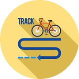 Bicycle Track. Bicycle, tyre, town icon vector image.Can also be used for town. Suitable for web apps, mobile apps and print media Royalty Free Stock Photography