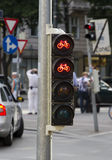 Bicycle traffic light Stock Photography
