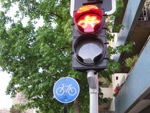 Bicycle traffic light Royalty Free Stock Images
