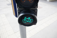 Bicycle traffic lights Stock Photo