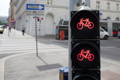 Bicycle traffic lights Royalty Free Stock Photography