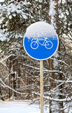 Bicycle traffic sign Stock Image