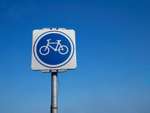 Bicycle Traffic Sign Stock Photography