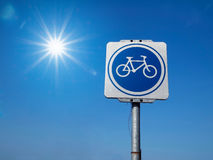 Bicycle Traffic Sign Royalty Free Stock Images