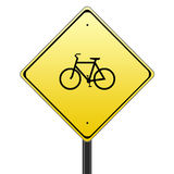 Bicycle traffic sign Royalty Free Stock Photos