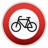 Bicycle traffic sign. Traffic sign of bicycle lane royalty free illustration