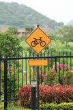 Bicycle traffic sign. Stock Photography