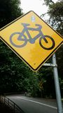 Bicycle Traffic Sign Stock Photos