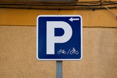 Bicycle traffic signal. In the street. bilbao. spain stock images