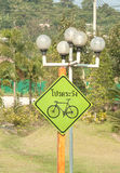 Bicycle  traffic Signs Stock Photography