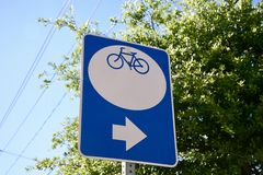 Bicycle Trail Ahead Stock Image