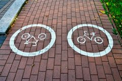 Bicycle trail Royalty Free Stock Photography
