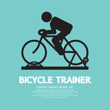 Bicycle Trainer Graphic Sign Stock Image