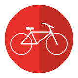 Bicycle transport active sport red circle Royalty Free Stock Images