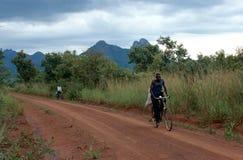 Bicycle transport in Uganda. Stock Image
