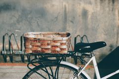 Bicycle transportation in the street stock images