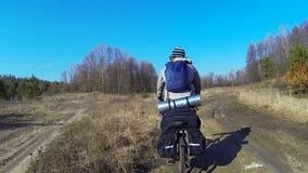 Bicycle Traveler stock footage