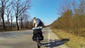 Bicycle Traveler stock video footage