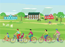 Bicycle trip with family. Bicycle trip with the family Stock Photography