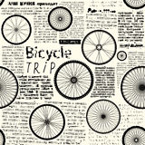 Bicycle trip Royalty Free Stock Images