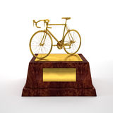 Bicycle trophy Stock Photography